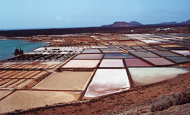 Die Salinen bei Playa Blanca