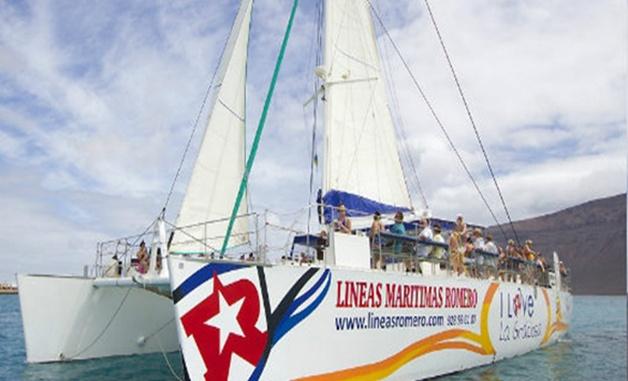Segelkatamaran nach La Graciosa