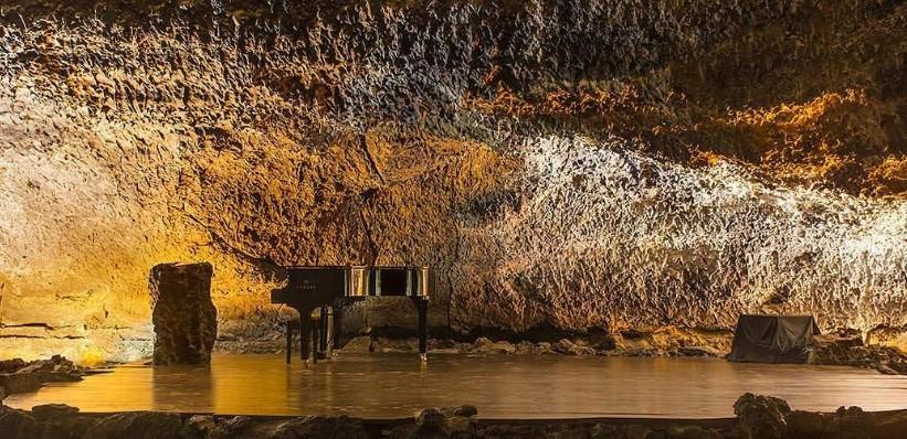 Der Konzertsaal im Vulkantunnel