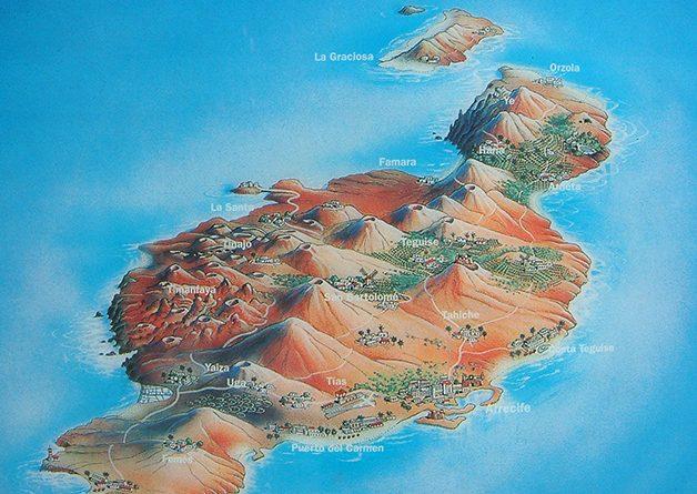 Lanzarote Karte