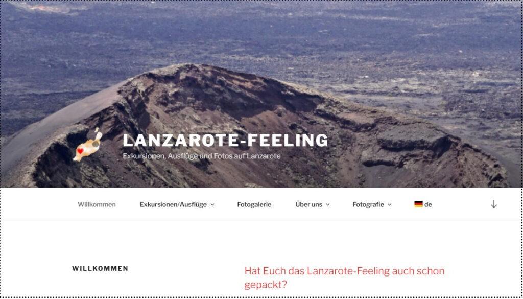 Lanzarote Feeling Webseite
